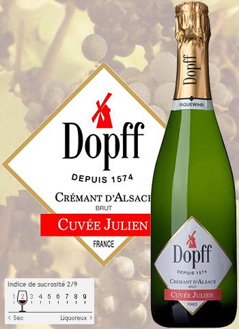 Magnum Crémant Cuvée Julien Brut Dopff au Moulin