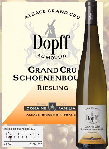 Riesling Grand Cru Schoenenbourg de Riquewihr 2014 Dopff au Moulin
