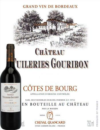 Château Tuileries Gouribon 2018 Côtes de Bourg Cheval Quancard