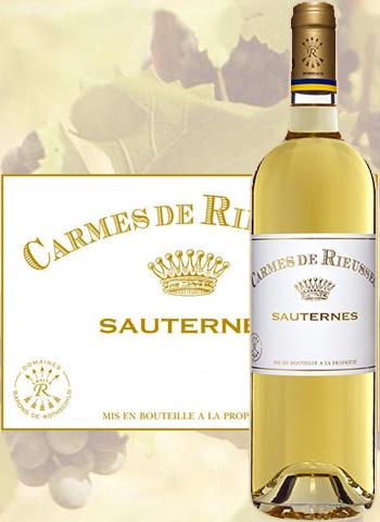 Les Carmes de Rieussec 2012 Second Vin de Sauternes
