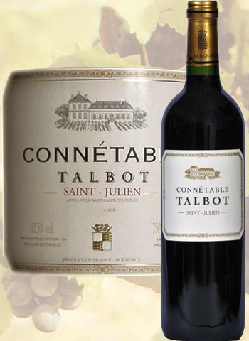 Connetable du Château Talbot 2016 Second Vin de Saint-Julien