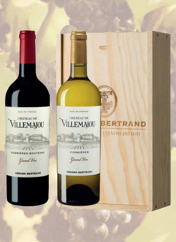 Coffret 2 bouteilles Château de Villemajou Grand Vin Gérard Bertrand