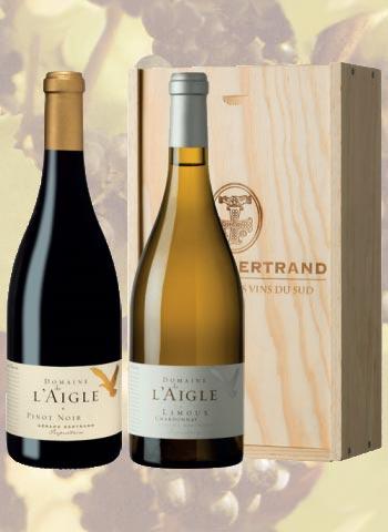 Coffret 2 bouteilles Domaine de l'Aigle Gérard Bertrand