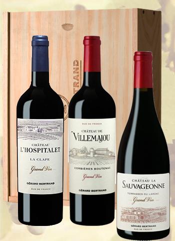 Coffret 3 bouteilles Grand Vin du Languedoc Gérard Bertrand