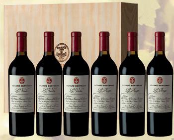 Caisse bois 6 bouteilles Vins d'Exception Gérard Bertrand