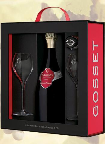 Coffret Champagne Luxe Grande Réserve Brut Gosset