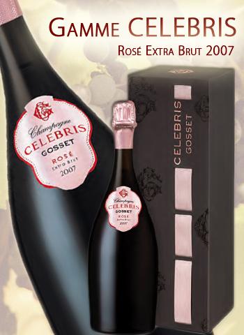 Coffret Celebris Rosé Extra Brut 2007 Champagne Gosset