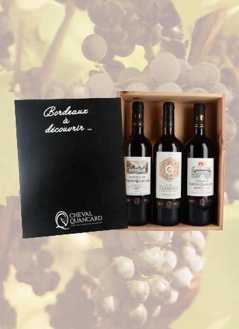 Coffret 3 bouteilles Bordeaux Rouge Découverte