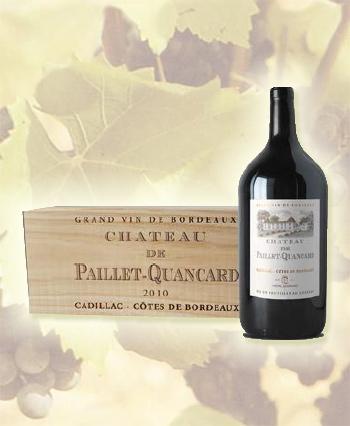Coffret double magnum Côtes de Bordeaux château Paillet-Quancard 2016