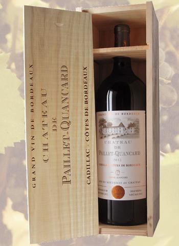 Coffret Magnum Côtes de Bordeaux Château de Paillet-Quancard 2012