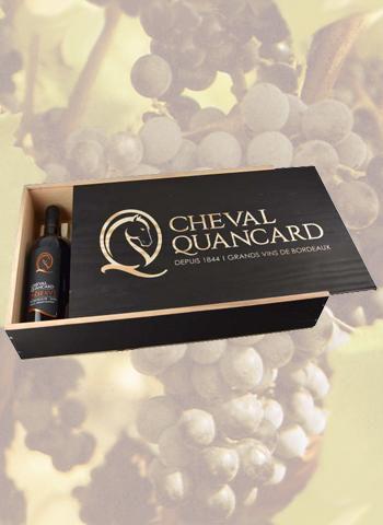 Coffret Noir 6 bouteilles Bordeaux Cheval Quancard Réserve 2016