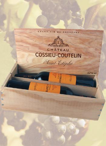Coffret 2 bouteilles Saint-Estèphe  Cossieu-Coutelin 2014