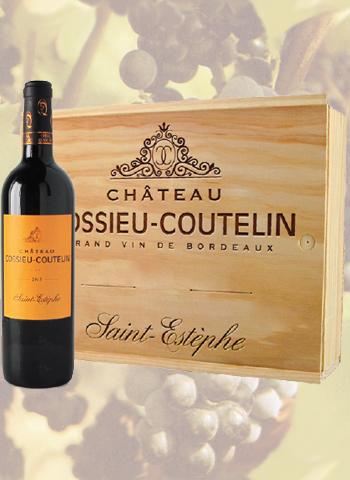 Coffret 3 bouteilles de Saint-Estèphe Château Cossieu-Coutelin 2013