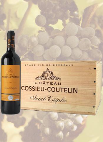 Coffret 6 bouteilles de Saint-Estèphe Château Cossieu-Coutelin 2013