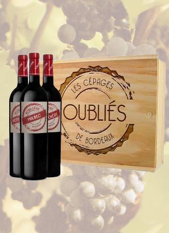 Coffret 3 bouteilles Les Cépages Oubliés de Bordeaux