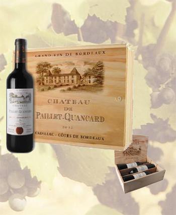 Coffret 3 bouteilles Côtes de Bordeaux château Paillet-Quancard 2016