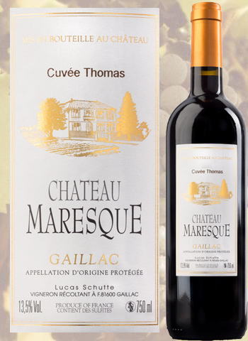 Cuvée Thomas 2015 Gaillac Rouge Château Maresque