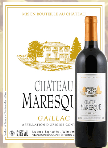 Château Maresque 2015 Gaillac Rouge Vieilles Vignes