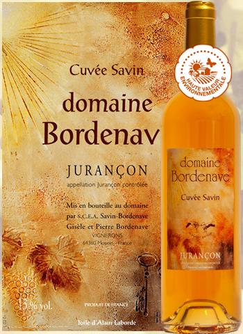 Cuvée Savin 2015 Jurançon Domaine Bordenave