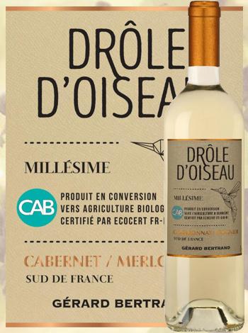 Drôle d'Oiseau Chardonnay - Viognier  2019 Pays d'Oc Gérard Bertrand