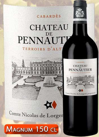 Magnum Château de Pennautier Rouge Terroirs d'Altitude 2015 Cabardès Lorgeril