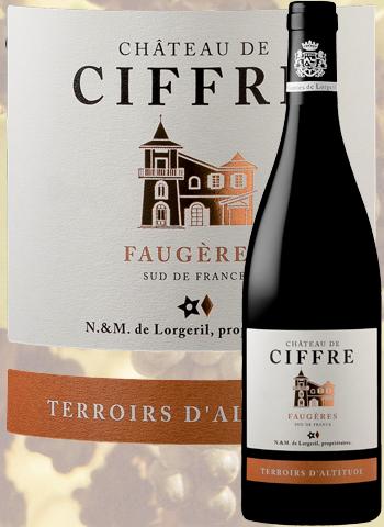 Château de Ciffre Rouge Terroirs d'Altitude 2017 Faugères Lorgeril