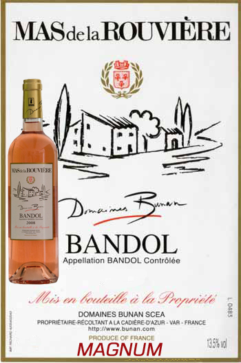 Magnum Mas de la Rouvière Rosé 2019 Bandol Bio Bunan
