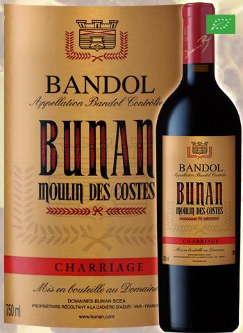 Moulin des Costes Rouge Cuvée Charriage 2017 Bandol Bio Bunan