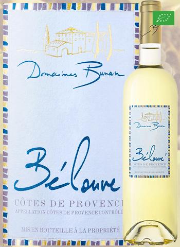 Bélouvé Blanc 2019 Côtes de Provence Bio Bunan