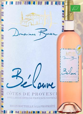 Bélouvé Rosé 2019 Côtes de Provence Bio Bunan