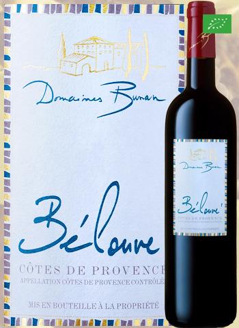 Bélouvé Rouge 2018 Côtes de Provence Bio Bunan
